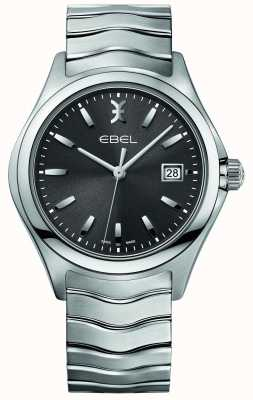EBEL Mens Wave Stainless Steel Bracelet Grey Dial 1216239