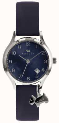 Radley Ladies Silver 26mm Case Navy Dial With Silver Dog Charm RY2643