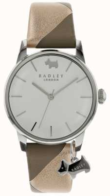 Radley Ladies Silver 35mm Case Silver/White Dial Silver Dog Charm RY2647