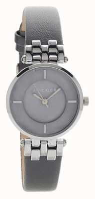 Anne Klein Womens Liliana Grey Silver Case Leather Strap AK/N2685GMGY