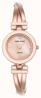 Anne Klein Womens Leah Rose Gold Tone Bracelet White Dial AK/N2622WTRG