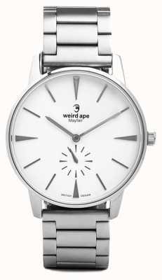 Weird Ape Mayfair White Dial Silver Link Bracelet WA02-005640