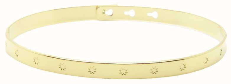 Mya Bay Gold PVD Plated Big Stars Bangle JC-31.G