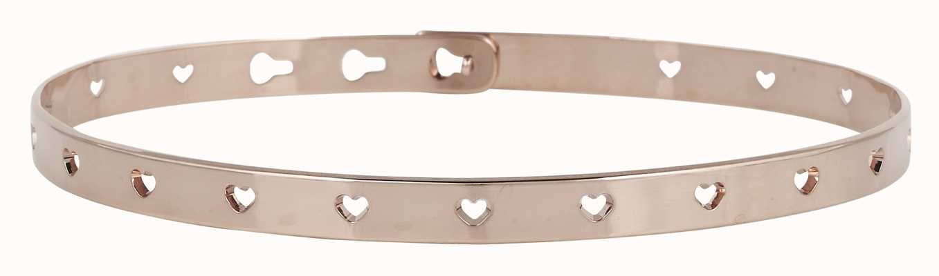 Mya Bay Rose Gold PVD Hearts Bangle JC-52.P