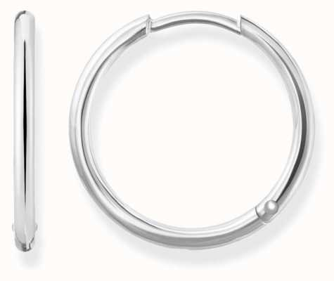 Thomas Sabo Womens Glam And Soul Medium Hinged Hoops Silver CR609-001-12