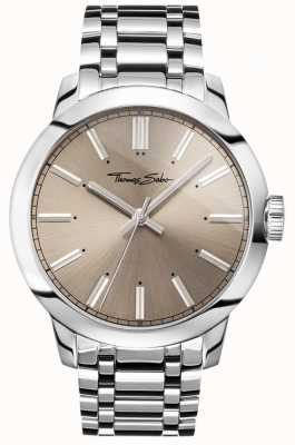 Thomas Sabo Mens Rebel At Heart Watch Stainless Steel Bracelet Grey Dial WA0311-201-214-46