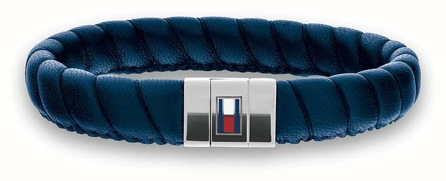 Tommy Hilfiger Casual Core Blue Leather Twist Bracelet 2701058