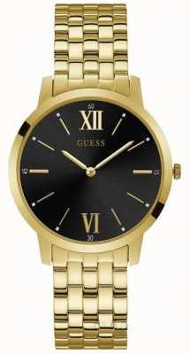 Guess Broker Gents Dress Analogue Gold Round W1072G2