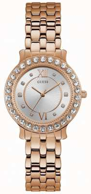 Guess Blush Womens Dress Analogue Rose Gold Round W1062L3