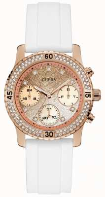 Guess Confetti Womens Sport Multi Rose Gold Round W1098L5