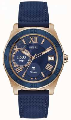 Guess Connect Unisex 44mm Digital Rose Gold and Blue Watch C1001G2