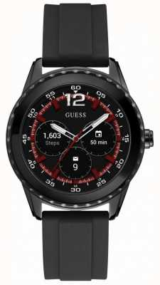 Guess Connect Unisex 44mm Android Wear Black Rubber Watch C1002M1
