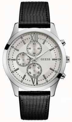 Guess Hudson Mens Dress Chronograph Silver Round W0876G4