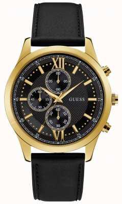 Guess Hudson Mens Dress Chronograph Gold Round W0876G5