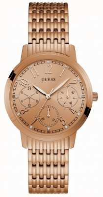 Guess Lattice Womens Dress Multi Rose Gold Round W1088L2