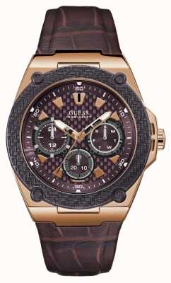Guess Legacy Mens Sport Multi Rose Gold Round W1058G2