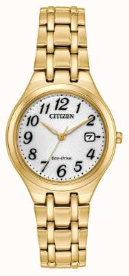 Citizen Ladies Gold Plate Corso Eco-Drive Watch EW2482-53A