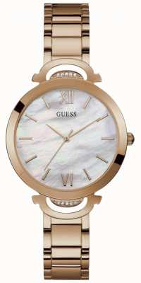 Guess Opal Womens Dress Analogue Rose Gold Round W1090L2