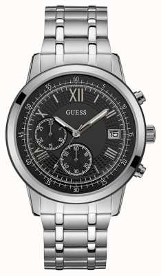 Guess Summit Mens Dress Chronograph Silver Round W1001G4