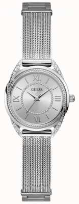 Guess Whisper Womens Dress Analogue Silver Round W1084L1