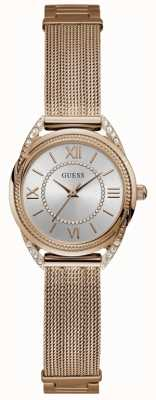 Guess Whisper Womens Dress Analogue Rose Gold Round W1084L3