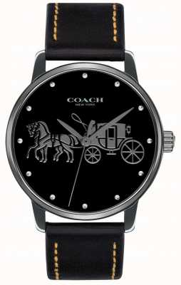 Coach Womens Grand Black Case & Black Leather Strap 14502974