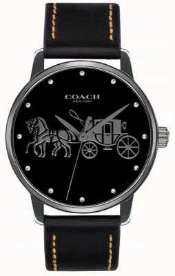 Coach Womens Grand Black Case & Black Leather Strap 14502974