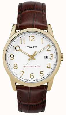 Timex Easy Reader Signature With Date 38mm Leather Watch TW2R65100