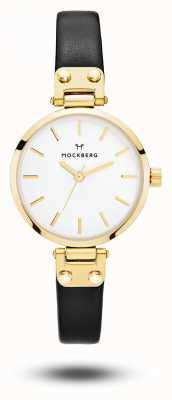 Mockberg Women's Saga Petite Black Strap White Dial MO207