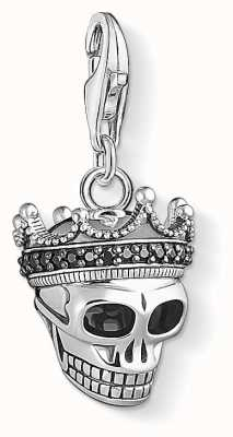 Thomas Sabo Skull King Sterling Silver Charm 1554-643-11