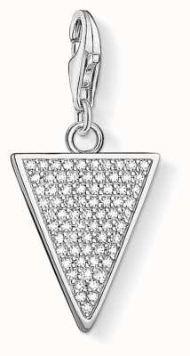 Thomas Sabo Triangle Pendant Zirconia Set Charm 1580-051-14