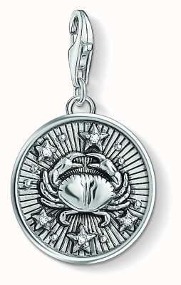 Thomas Sabo Zodiac Sign Cancer Sterling Silver Blackened Zirconia 1643-643-21