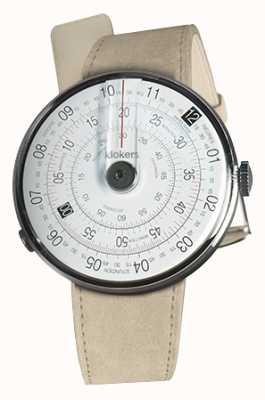 Klokers KLOK 01 Black Watch Head Grey Alcantara Single Strap KLOK-01-D2+KLINK-01-MC6