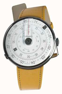 Klokers KLOK 01 Black Watch Head Newport Yellow Single Strap KLOK-01-D2+KLINK-01-MC7.1