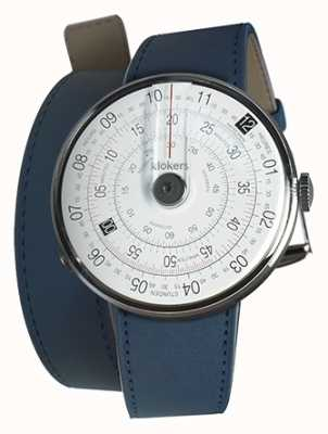 Klokers KLOK 01 Black Watch Head Indigo Blue 420MM Double Strap KLOK-01-D2+KLINK-02-420C3