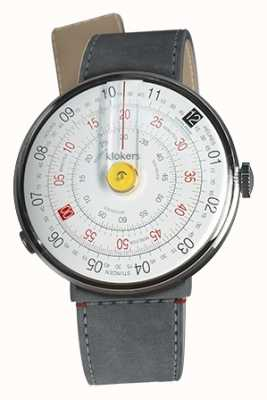 Klokers KlOK 01 Yellow Watch Head Grey Alcantara Strait Single Strap KLOK-01-D1+KLINK-04-LC11