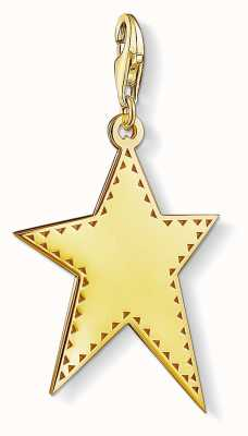 Thomas Sabo Gold Plated Sterling Silver Star Charm Pendant Y0040-413-39