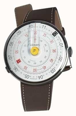 Klokers KLOK 01 Yellow Watch Head Chocolate Brown Single Strap KLOK-01-D1+KLINK-01-MC4