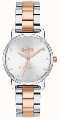 Coach Grand women's two tone rose gold and silver bracelet 14503005