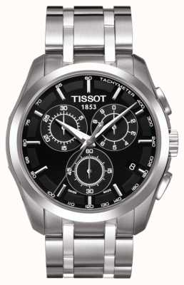 Tissot Mens Coutourier Chronograph Black Dial Stainless Steel T0356171105100