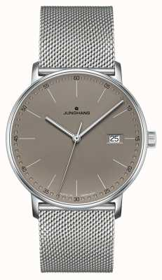Junghans FORM Quartz Grey Leather Grey Dial Watch 041/4886.44