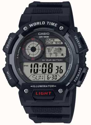 Casio World Time Alarm Chronograph AE-1400WH-1AVEF