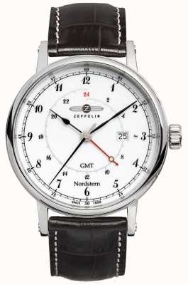 Zeppelin Nordstern Date Display Dual Time Zone Sweep Hand 7546-1