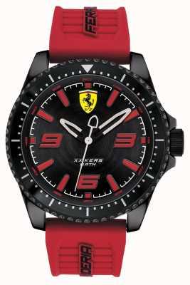 Scuderia Ferrari XX Kers Black Dial Red Rubber Strap 0830498