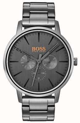 Hugo Boss Orange Men's Copenhagen Day & Date Display Grey Dial IP Coated 1550068