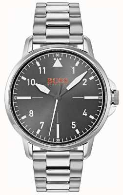 Hugo Boss Orange Black Dial Silver Stainless Steel Bracelet 1550064