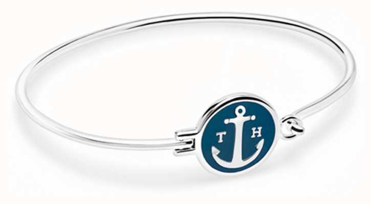 Tom Hope Silver Plated Sapphire Blue Bracelet Size Medium TM0301