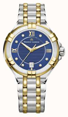 Maurice Lacroix Womens Aikon 35mm Two Tone Stainless Steel Blue Dial AI1006-PVY13-450-1