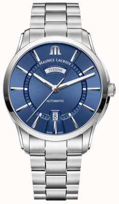Maurice Lacroix Mens Pontos Blue Dial Stainless Steel Bracelet PT6358-SS002-430-1