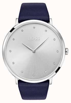 Hugo Boss Womens Jillian Watch Blue Leather Strap 1502410